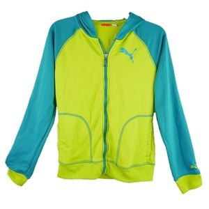Puma Hoodie Lightweight Sweater Jacket Girl Sz XL